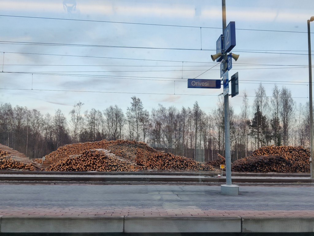 kuva Oriveden juna-asemalta